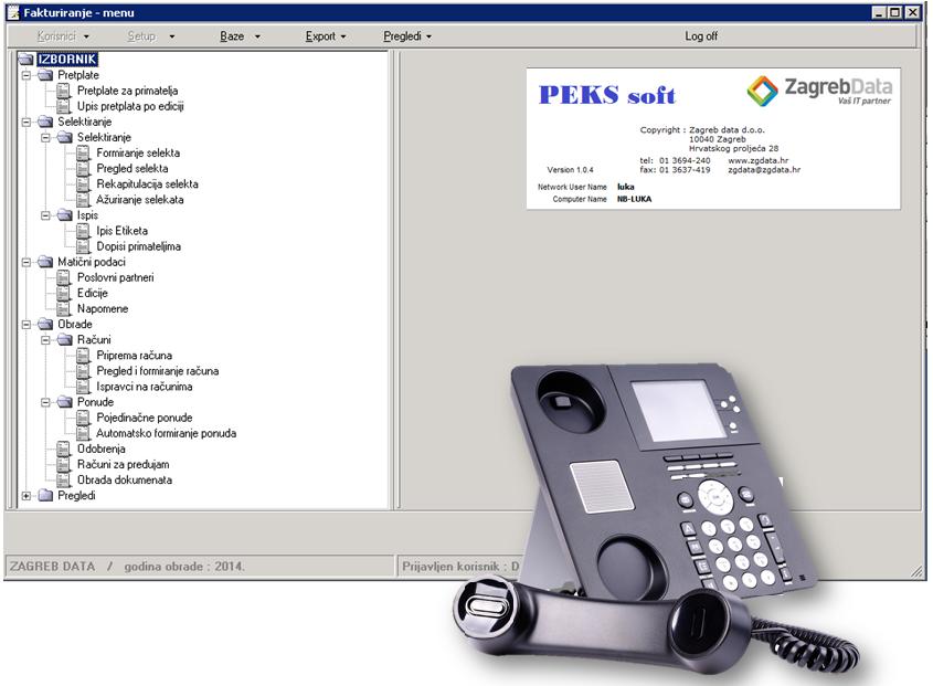 PEKS soft - slika zaslona